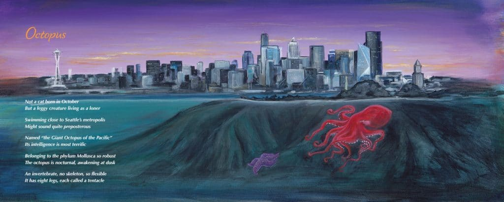 Octopus from meet me at the salish sea book